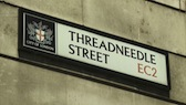 Threadneedle St Sign